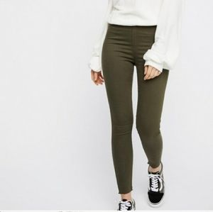 Free people Olive jeggings